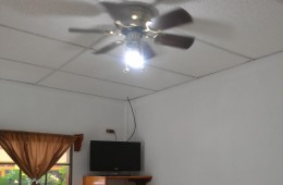 Inside Room – Ceiling Fan – TV
